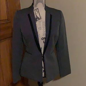 Tahari Arthur S. Levine charcoal jacket; sz 4